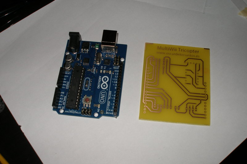 Arduino One Shield 10 PCB  Preparada